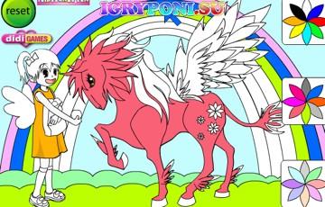 игры раскраски пони